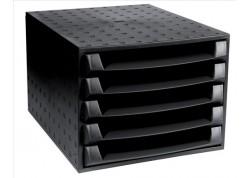 Exacompta módulo Box Ecoblack 5 bandejas