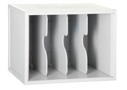 Archivo 2000 módulo con 3 separadores gris