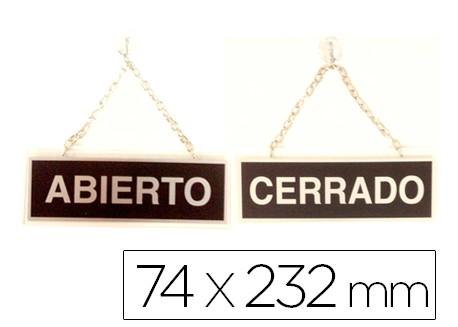 Cartel metálico ABIERTO-CERRADO
