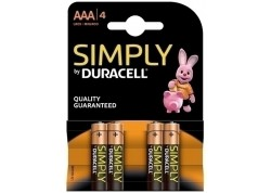 Duracell blister 4 pilas alcalinas LR03 (AAA)