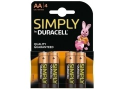 Duracell blister 4 pilas alcalinas LR06 (AA)