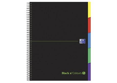 Oxford Black n`colors cuaderno espiral ebook 5 tapa extradura