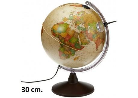 Esfera Marco Polo con luz y lupa de 30 cm.
