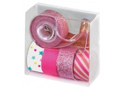 Blister 5 cintas decorativas glitter con dispensador