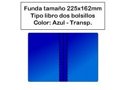 Funda PVC portadocumentos coche azul