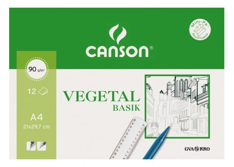 Canson minipack papel vegetal 12 hojas
