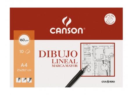 Canson mini pack 10 láminas Dibujo Lineal Marca Mayor