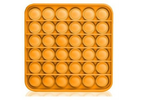 Pop It  juguete sensitivo desestresante diseño cuadrado naranja
