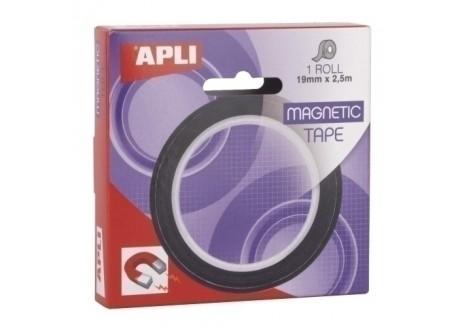 Apli cinta adhesiva magnética 2,5 m. x 19 mm.