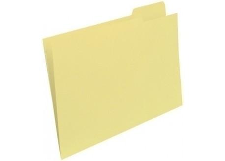 Gio-Elba paq. 50 subcarpetas A4 pestaña derecha amarillo