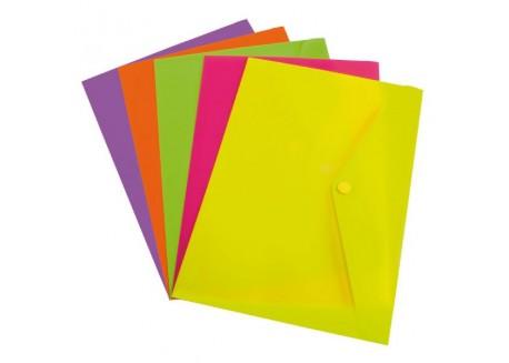 Grafoplas sobre folio P.P. colores flúor con broche